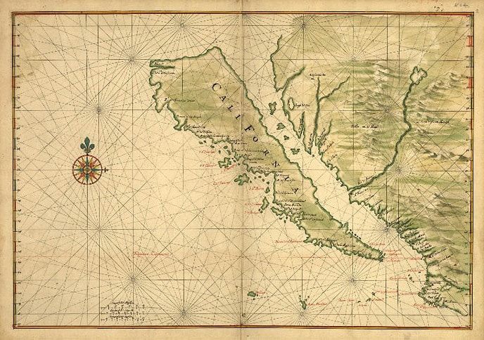 1650 Chart of California