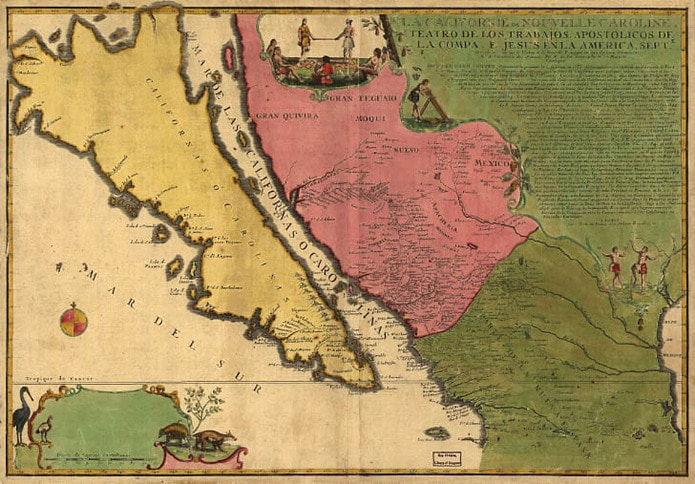 1720 Chart of California