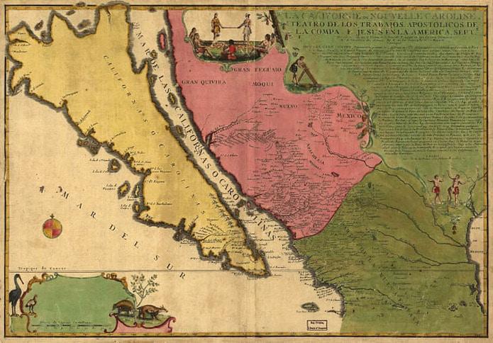 1720 Chart of California