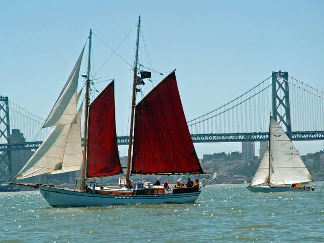 A Schooner and a Sloop in the Master Mariner's Regatta