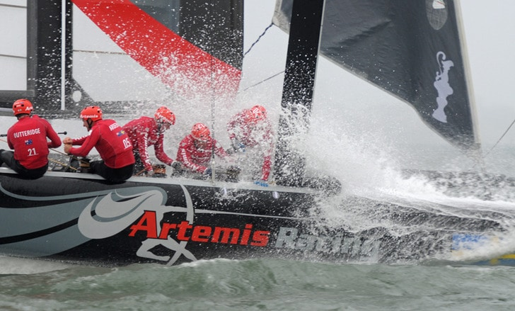 A Wet Moment on Artemis Racing's AC45 SF
