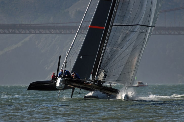 AC45 Heading Toward the Golden Gate Bridge