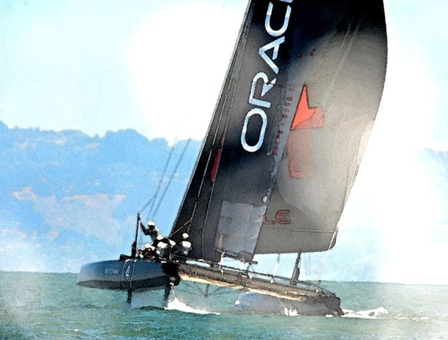 AC45 on San Francisco Bay