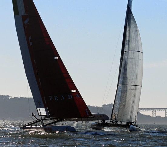 AC45s Cross Paths in San Francisco Bay