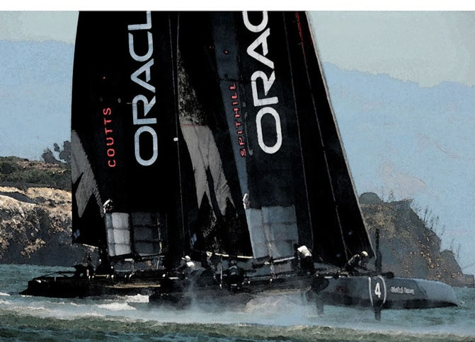 AC45s Racing on San Francisco Bay