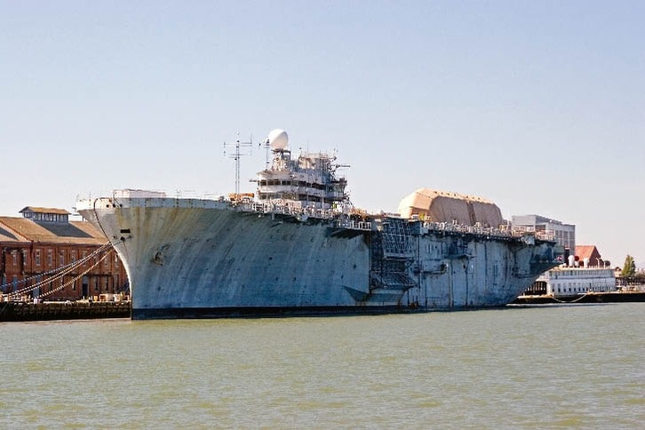 Aircraft Carrier USS Oriskany, Being Stripped for Scrap