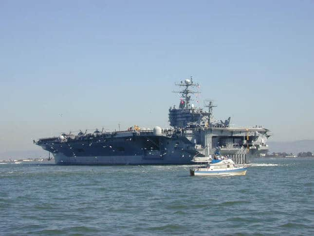 Aircraft Carrier in the Bay for Fleet Week