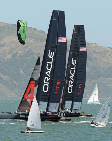 America's Cup Boats and Dinghy Racers