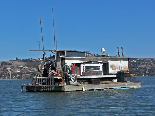 Anchored-Out Houseboat