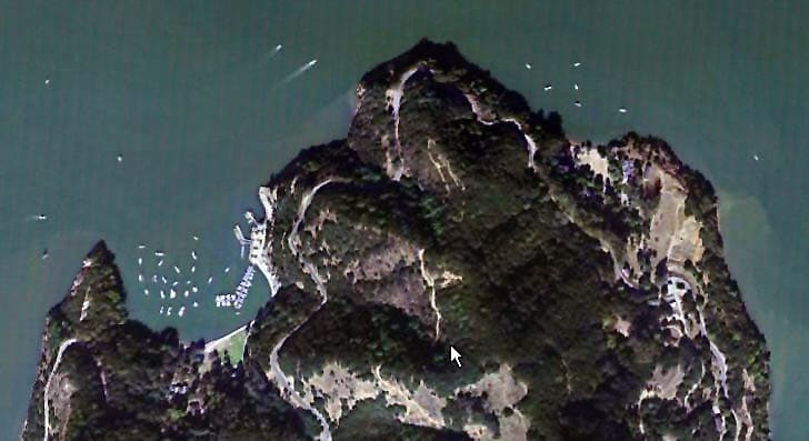 Angel Island (Ayala and China Coves) Aerial View