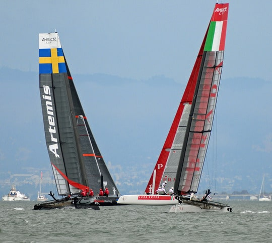 Artemis and Prada Crossing on San Francisco Bay