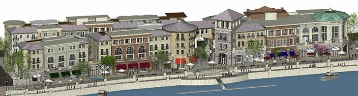 Artist's Rendering of Future Downtown Waterfront