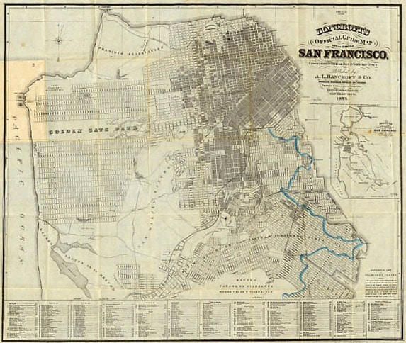 Bancroft's Guide Map of City and County of San Francisco