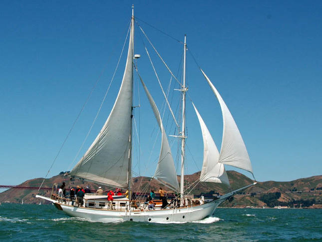 Beautiful Schooner in the Master Mariner's Regatta