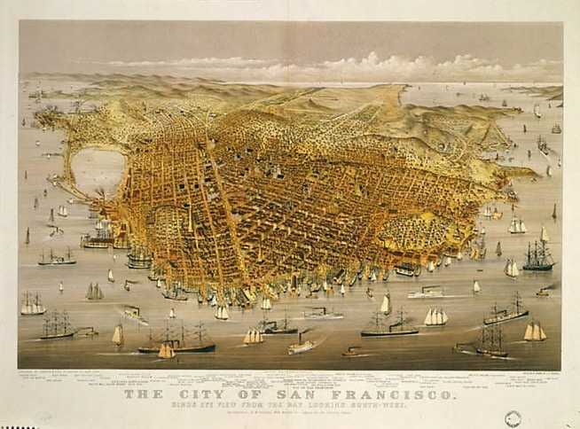Bird's Eye View of Early San Francisco 2