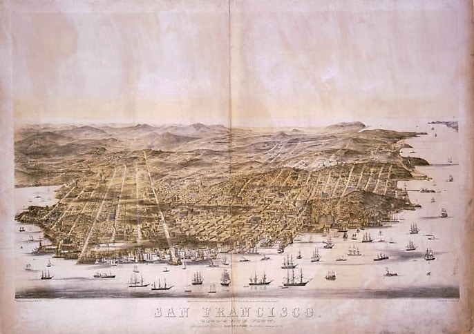 Bird's Eye View of Early San Francisco