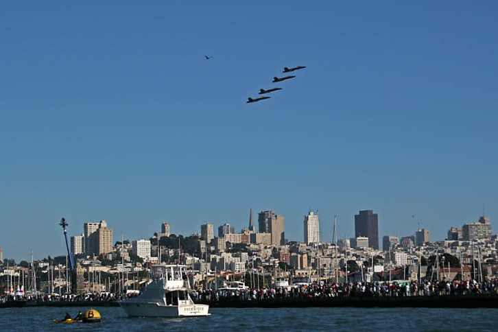 Blue Angels Over San Francisco 2