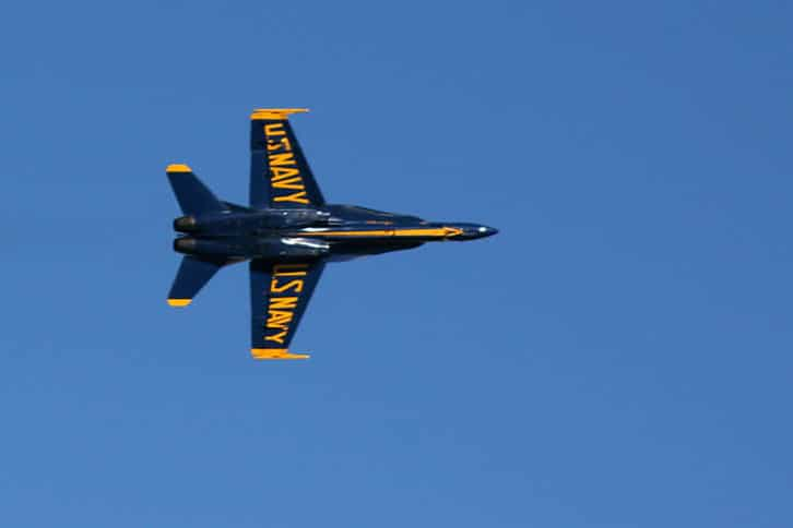 Blue Angels Over the Bay Close Up