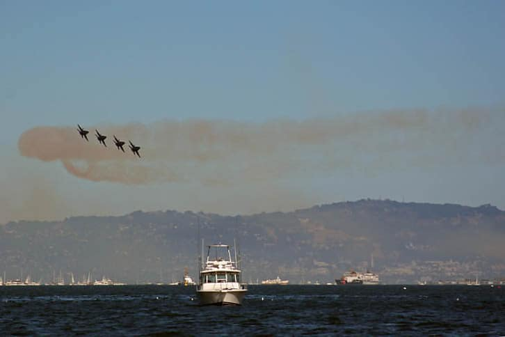 Blue Angels during Fleet Week 2005