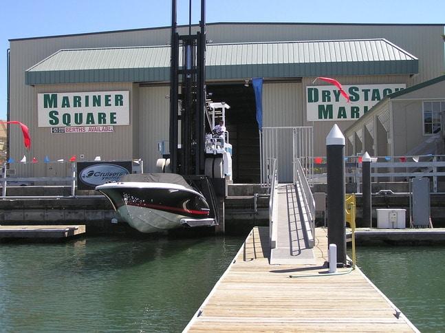 Boat Launch at Mariner Square Drystack Storage
