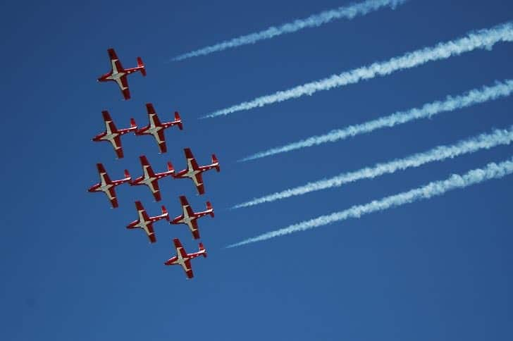 Canadian Air Force Snowbirds at Fleet Week