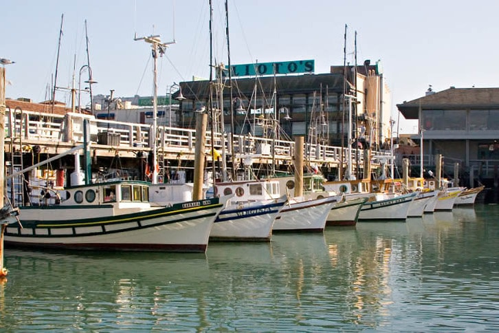 Classic Fishing Boats at San Francisco's Fisherman's Wharf