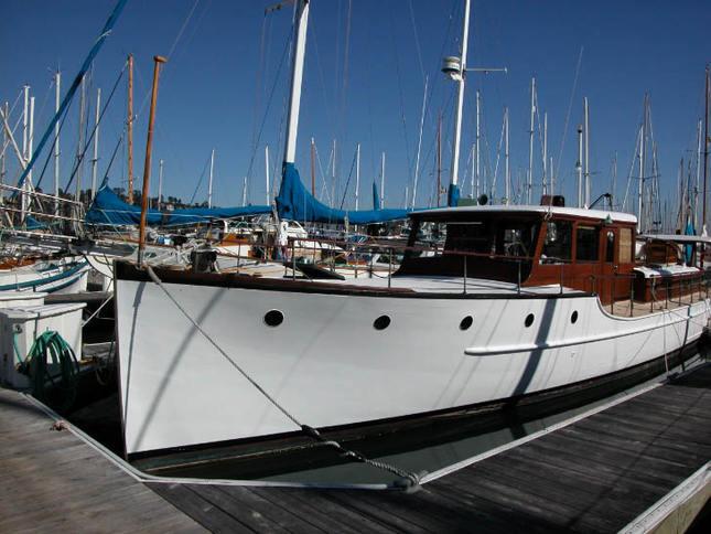 Classic Motoryacht Docked