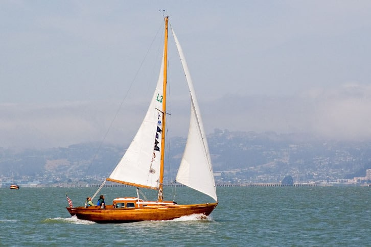 Classic Sailboat Cruising