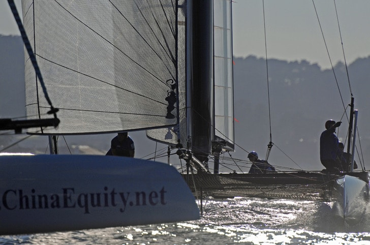 Close Racing in America's Cup World Series SF