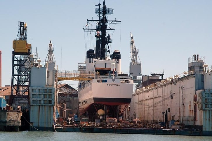 Coast Guard Cutter Boutwell in Drydock