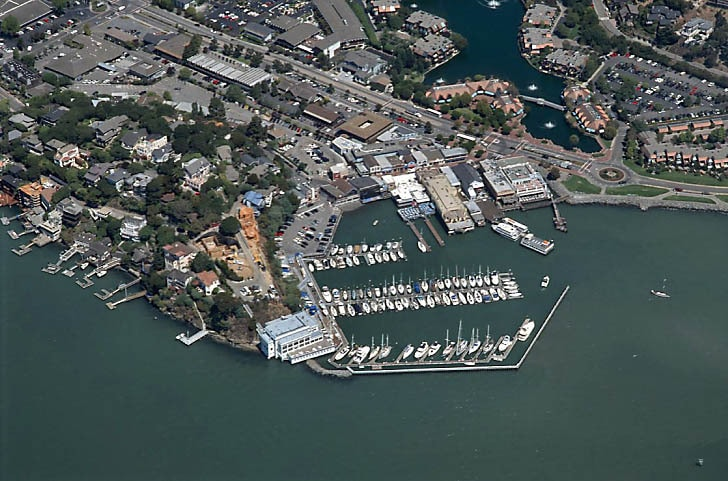Corinthian Yacht Club and Tiburon