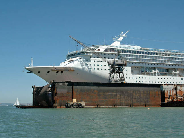 Cruise Ship in Drydock 2