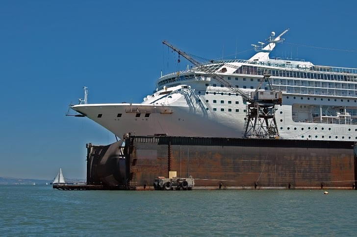 Cruise Ship in Drydock