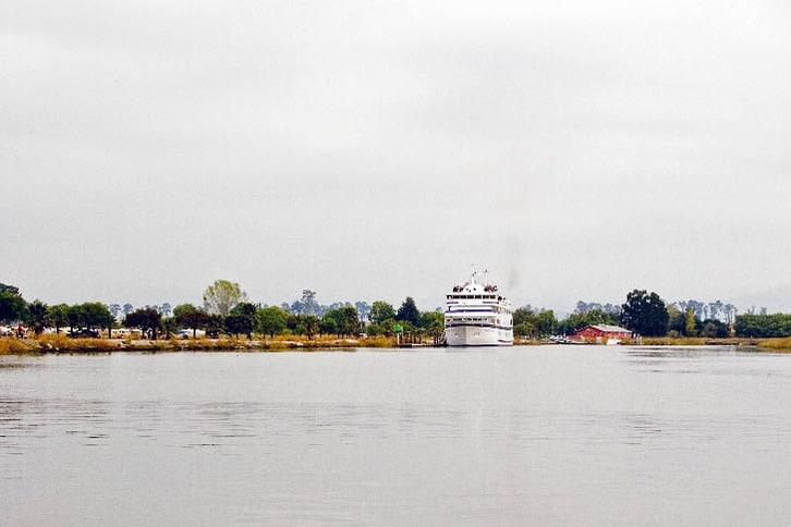 CruiseWest's 217-foot 'Spirit of Endeavor' at Cutting's Wharf