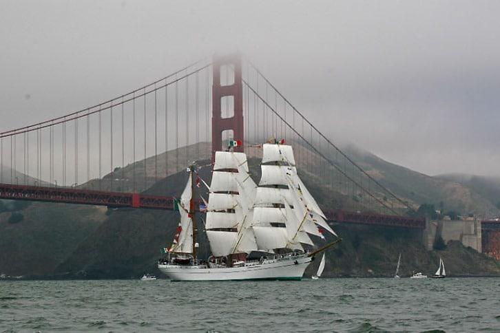 Cuauhtemoc Enters San Francisco Bay
