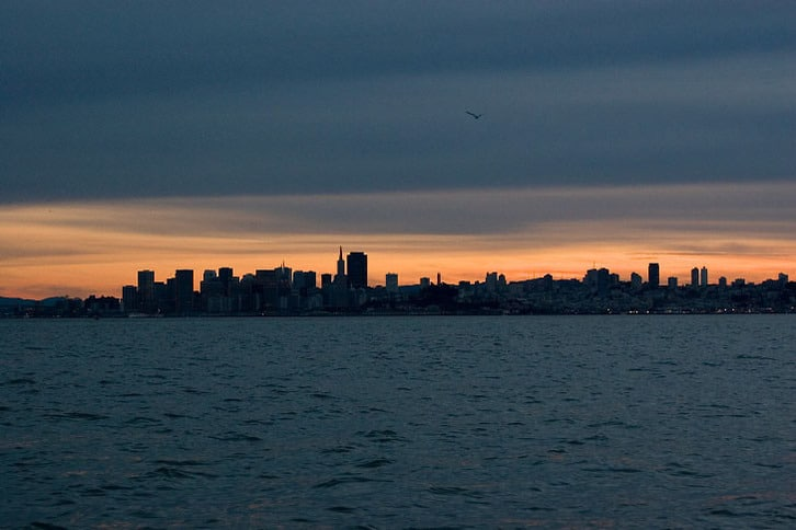 December Sunset Over San Francisco