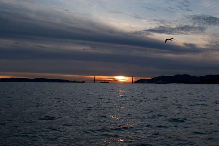 December Sunset at the Golden Gate