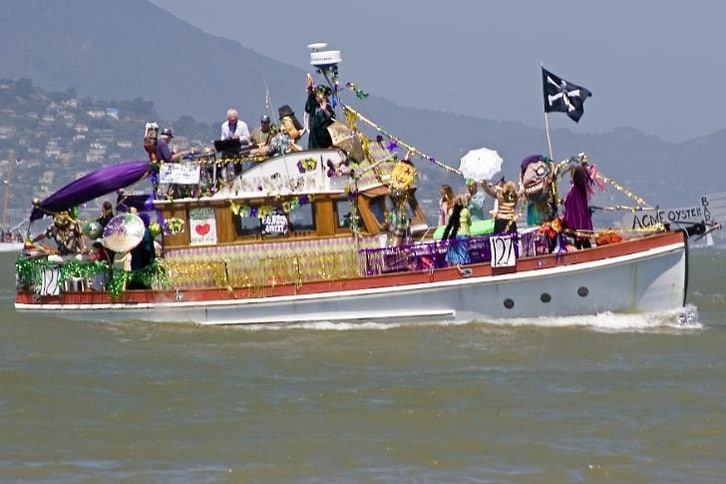 Decorated Trawler in Opening Day Parade 2