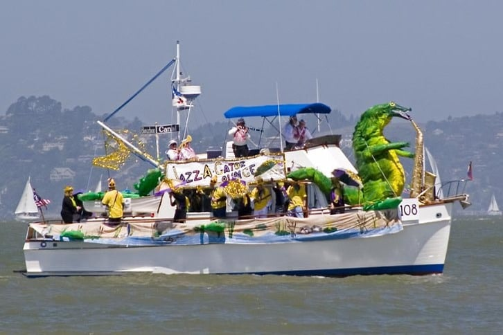 Decorated Trawler in Opening Day Parade