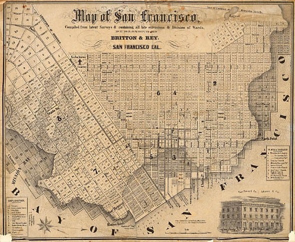 Early Map of San Francisco