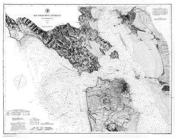 Early San Francisco Bay Chart