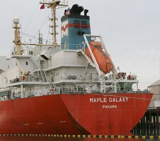 Escape Boat on Chemical Tanker Ship