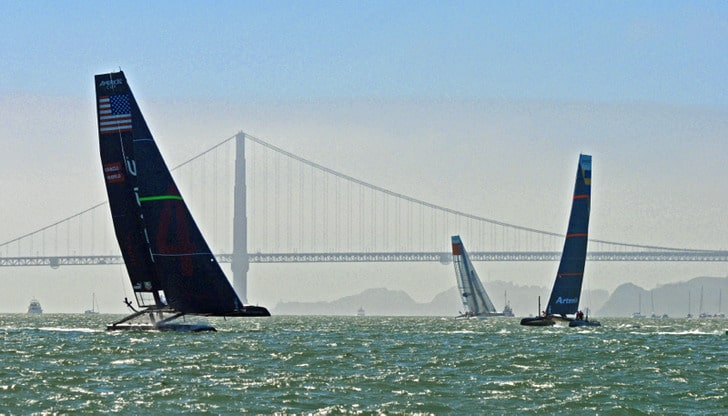 Exciting Times on AC45s in San Francisco Bay