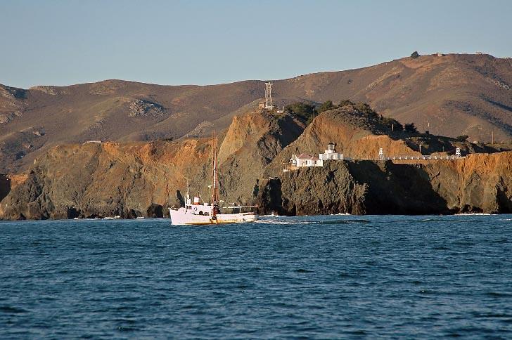 Fishing Boat Passing Point Bonita