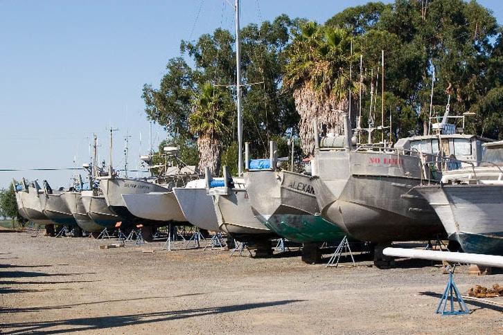 Fishing Boats in the Yard at Napa Valley Marina