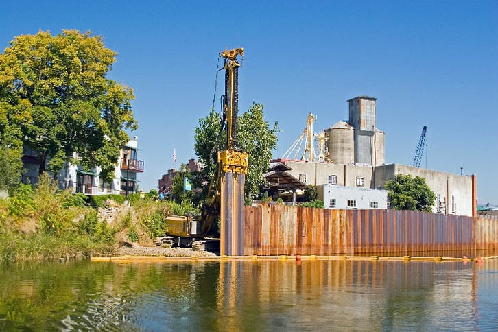 Floodwall Construction in Downtown Napa 2006