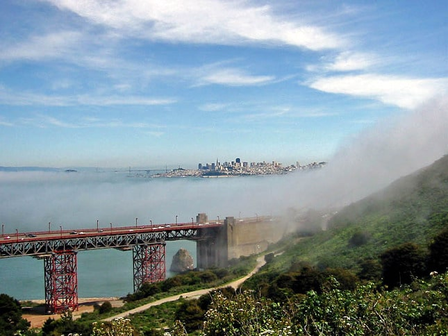Fog Creeps Over the Headlands