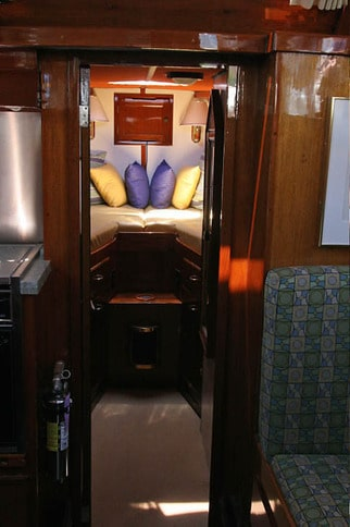 Forepeak Berth in Classic Stephens Motoryacht
