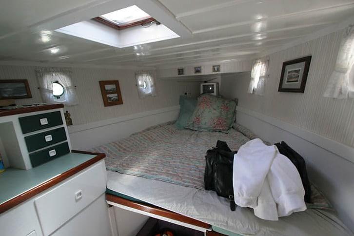 Forepeak Cabin of a Stephens Motoryacht