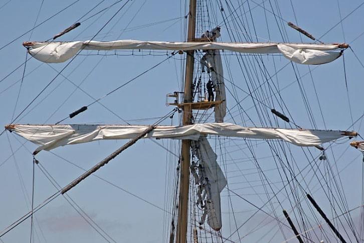 Furling Sails on Pallada
